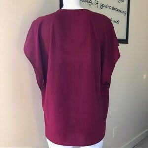 The Limited Tops - The Limited maroon zip up blouse